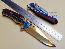 Tactical Folding Blade Knife Pocket Camping Outdoor Hunting Rescue Tool New #2