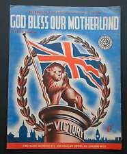 Dio benedica la nostra patria-CANZONE DELLA VITTORIA-VINTAGE SPARTITO (1945)