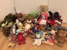 Huge Stuffed Animals Lot: Leap Frog Baby Tad, Elmo, Princess Dolls, Care Bear