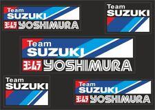 TEAM SUZIKI YOSHIMURA Motorcyle Decal Sticker Graphic Set Vinyl Adhesive 5 Pcs