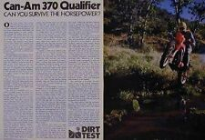 1979 CAN-AM 370 QUALIFIER Motorcycle Dirt Test Article