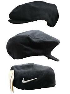 Nike Mens Sports Beret Cap Casual Flat Cap Black Classic Beret Flat Cap