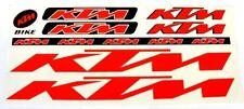 KTM Sticker Set Aufkleber Bike Fahrrad Ebike Stickers Logo Aufkleberset Rot Red