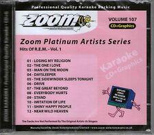 Zoom Karaoke CDG    PLATINUM VOL 107     HITS OF R.E.M.      12 TOP HITS