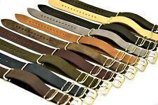 Excellent NATO Watch Strap, ZULU Leather Band,Handmade Strap 18 20 22 24 26 mm