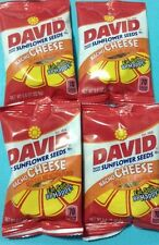 DAVID SUNFLOWER SEEDS roasted & salted lot of 2 Pack NACHO CHEESE flavor .8 onz