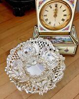 "Antique Sterling JOHN H POTTER 4"" Nut Dish Pierced Silver Sheffield England 1898"