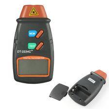Professional Digital Laser Photo Tachometer Non Contact RPM Tach Orange+Black