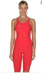 SPEEDO FASTSKIN LZR ELEMENT / RED SWIMMING SUIT / SIZE UK28 / BRAND NEW RRP £120