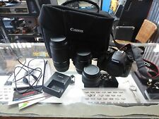 Canon Rebel EOS T6 18.0MP W/3 Lens 75-300, 18-55 & 50mm! Battery & Charger!