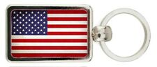 PORTACHIAVI BANDIERA AMERICANO STATI UNITI - USA FLAG KEYRING, PORTE-CLES