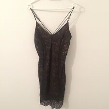 Topshop Stunning Black Strappy Lace Dress Size 12/40