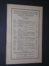 PROCEEDINGS OF THE  ROYAL INSTITUTION OF GREAT BRITAIN. 1943-1944. No.150
