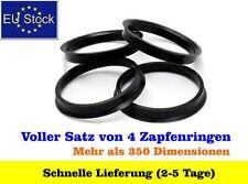 Felgen Zentrierringe, Abstandsringe für Alufelgen. 4 Stück. (63,3mm x 56,1 mm)