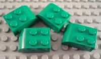 LEGO Lot of 8 Green 3x2 Curved Foot Brick Pieces