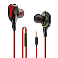 In-Ear Doppeltreiber Super Bass Kopfhörer T2 Ohrhörer Earphone Headset