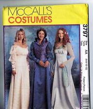 Retired McCalls 3797 Renaissance Medieval Costume Gown Pattern Ladies 6 8 10 12