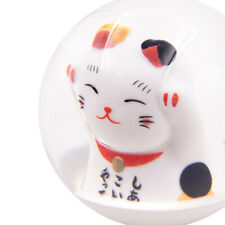 Jdm Maneki Neko Fortune Lucky Cat Round Gear Ball Shift Knob M8 M10 M12 Adapter