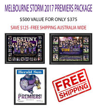 Melbourne Storm 2017 NRL Premiers Package Deal x 3 Frames SLATER - Free Shipping