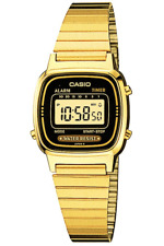 Casio Gold Ladies Digital Fashion Watch Vintage LA670WGA-1D