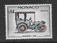 MONACO POSTAGE MINT HINGED COMMEMORATIVE STAMP - 1961 - CARS - MERCEDES 1901