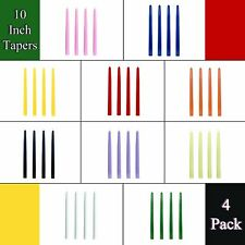 CandleNscent 10 Inch Taper Candles | Tapered Candlesticks - Dripless | 4 Pack