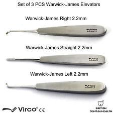Warwick James Set elevadores de extracción quirúrgica dental elevadores Dientes Aflojamiento