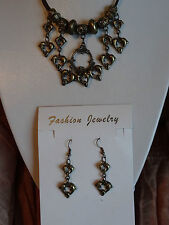 Bronze-coloured necklace & earring set - dolphin shapes - lovely gift