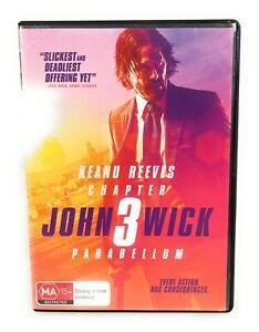 John Wick Chapter 3- Parabellum (DVD, 2019) Keanu Reeves Region 4 Free Postage