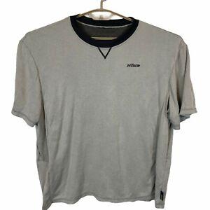 Vintage Hind Mens Performance Gray Short Sleeve Straight Hem Crew Neck T Shirt