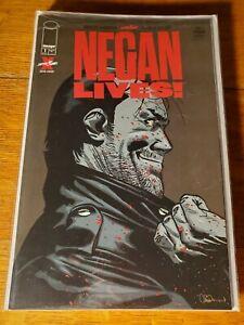 NEGAN LIVES #1 2020 1st Print Adlard Cov Image The Walking Dead NM Kirkman TWD