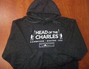 Head Of The Charles Rowing Regatta Cambridge Boston Mass Hoodie Sweatshirt L NEW