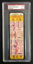 1955 WORLD SERIES FULL TICKET GM#1   PSA   JACKIE ROBINSON STEALS HOME