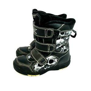 Tony Hawk Thermolite Black Winter Boots Boys Size 5 Near Mint Condition  [25]