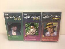 Agatha Christie VHS Tapes X3