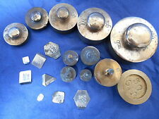 Job lot of 19 vintage apothecary / chemist /  scientific  weights