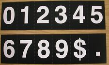 Hymn or church register board extra numeral slides-one each numbers 0 - 9