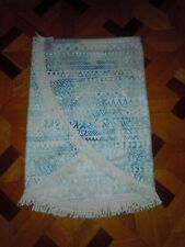 "Dsw Brand New Beach Blanket Blue White Round 59"" With Fringes"
