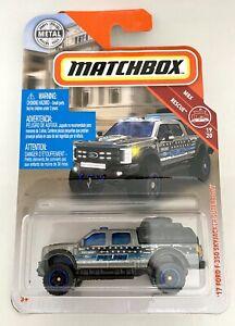 Matchbox #19 '17 Ford F350 Skyjacker Super Duty Police MBX Rescue 1:64 Scale