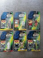 1996-97 Kenner Star Wars Power of the Force Green Card Action Figures Lot of 6
