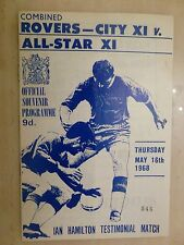 1968 IAN HAMILTON  TESTIMONIAL - ROVERS - CITY XI v ALL STAR XI