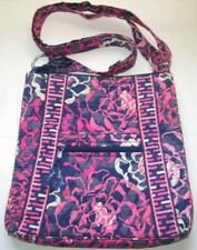 VERA BRADLEY FLORAL PINK BLUE CROSSBODY MEDIUM HANDBAG *VERY GOOD CONDITION