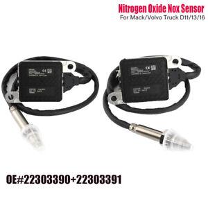 2SET 22303390+22303391 Nitrogen Oxide Nox Sensor For Mack/Volvo Truck D11/13/16