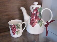 Royal 'Doulton Everyday' Vintage Grape Teapot and Cup