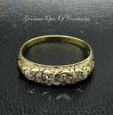 Vintage 18ct Gold old cut Graduated 0.75ct Diamond Eternity Ring Size Q 3.2g