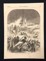 Antique 1873 Book Print/Plate THE FORTRESS OF OCZAKOW CAPTURED BY THE RUSSIANS