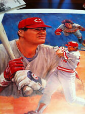 """PETE ROSE """"CIRCLE OF CHAMPIONS"""" SERIOLITHOGRAPH BY ARTIST DOUG WEST HC 3/50"""