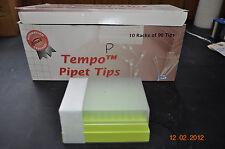 Tempo Pipet Tips   Fisherbrand 02-707-224   100ul   non sterile 10 racks of 96