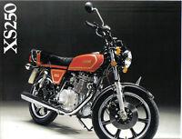 Yamaha XS250 Sales Brochure,1978 Original NOS