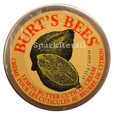 Burt's Bees Organic Lemon Butter CUTICLE CREAM 15g Manicure/Pedicure Burts